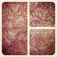 Www.terryribera.com, www.remingtontattoo.com #tattoo  #sandiego #custom #remington #owl #rose #skull