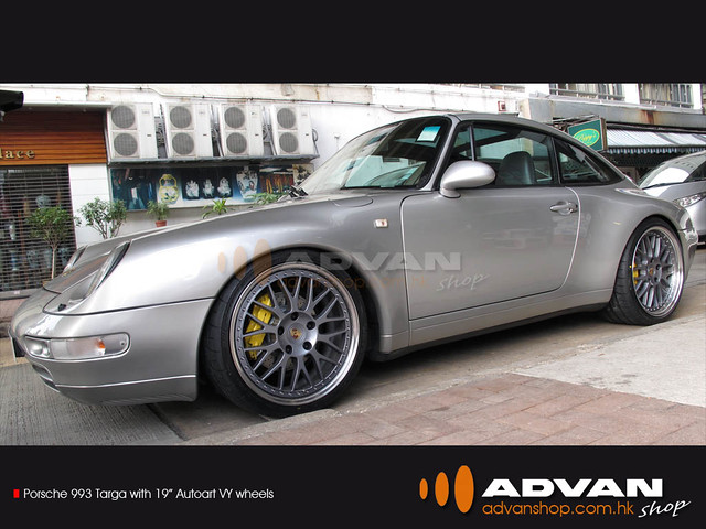 Porsche 993 Targa With 19 Autoart Vy Wheels Fr Flickr