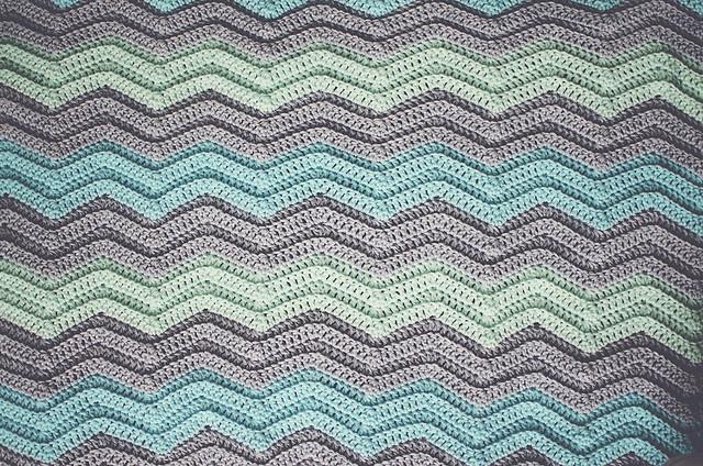 Crochet Chevron Baby Blanket Goodknits A Knitting Crochet Blog