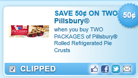 Pillsbury Rolled Refrigerated Pie Crusts Coupon