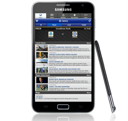 Chelsea FC App_Samsung Galaxy Note
