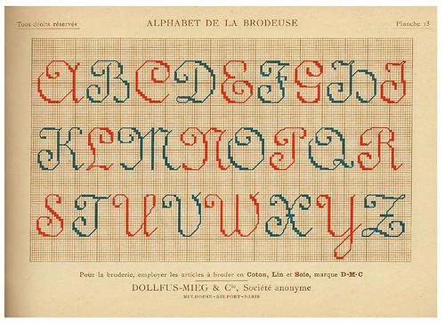 006-Alphabet de la Brodeuse1932- Thérèse de Dillmont