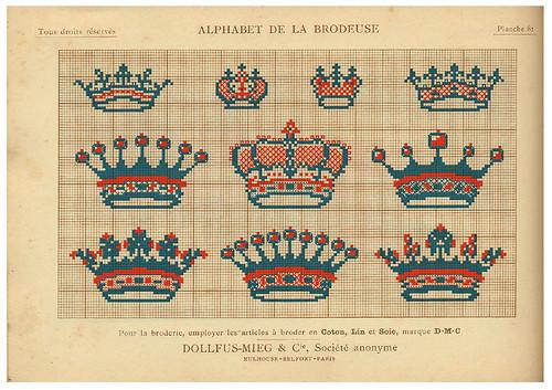 018-Alphabet de la Brodeuse1932- Thérèse de Dillmont