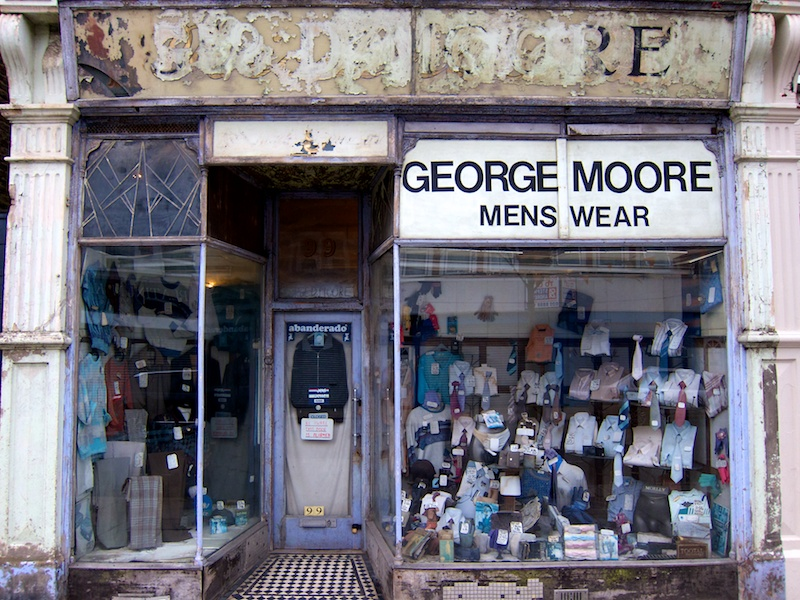 George Moore Menswear, the shop that time forgot