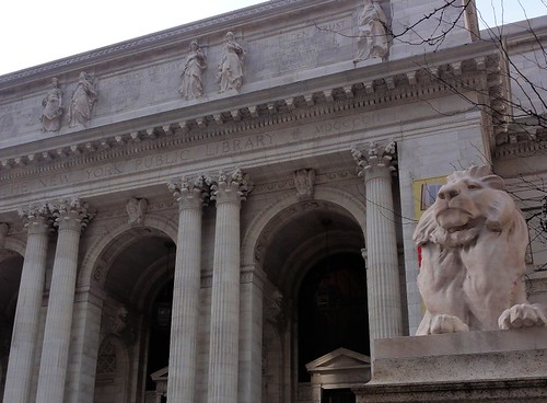 Mid Manhattan New York Public Library and Lion