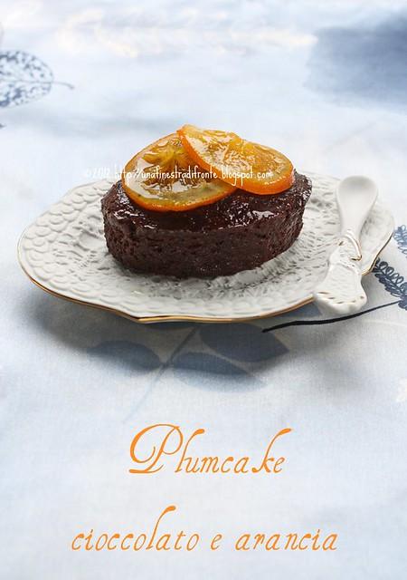 Plumcake al cioccolato e arancia