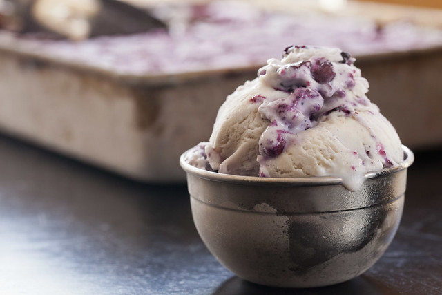 Homemade Blueberry Ice Cream 2