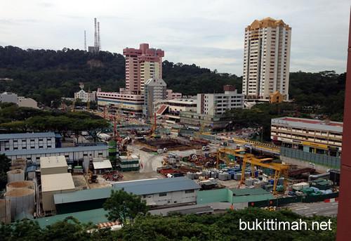 Beauty World MRT Construction - April 2012