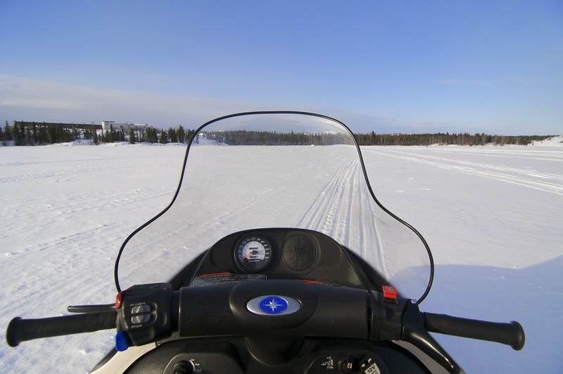 Yellowknife by Snowmobile