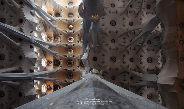 Hola Barcelona~巴塞隆納。聖家堂 Sagrada Familia 沙包重量構成的弧線  R1042647
