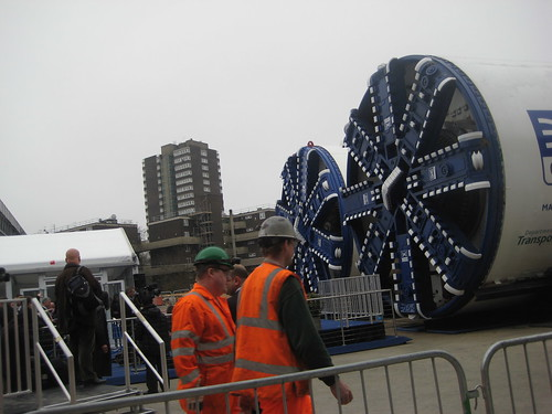Workers at Crossrail Tunnel Boring Machine Launch