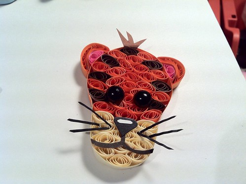 handmade tiger shadowbox custom quill filigree quilling paperquilling hopesart paperfiligree hopesartcreationsetsycom