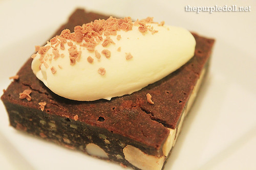 Plate - Cashew Nut Brownie