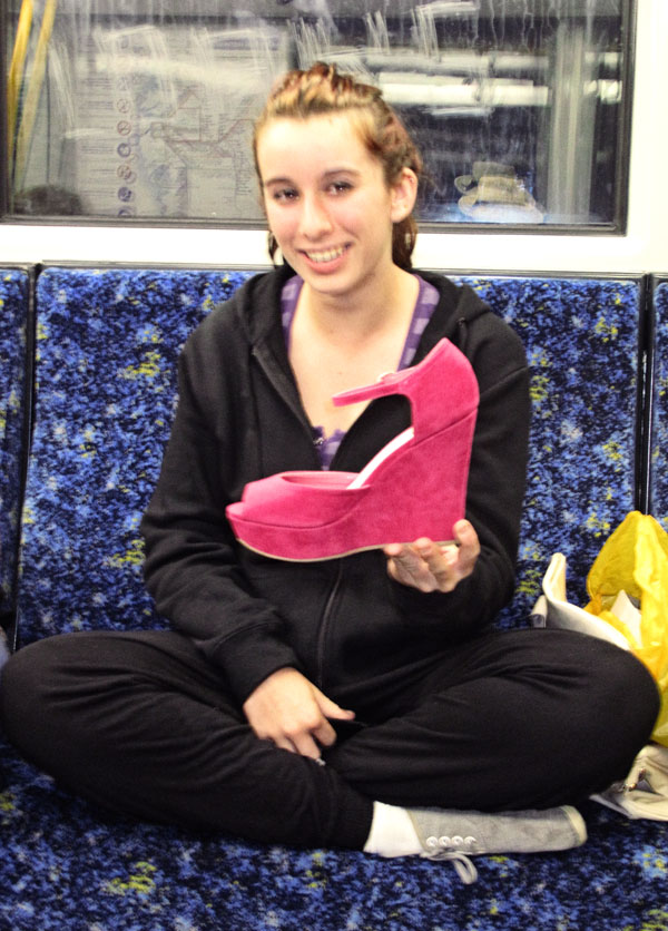 Pink Shoe on Citrail Train Street Fashion Sydney