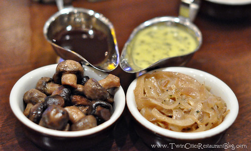 Demi Glace, Bearnaise, Mushrooms and Sauteed Onions at Mystic Steakhouse ~ Prior Lake, MN
