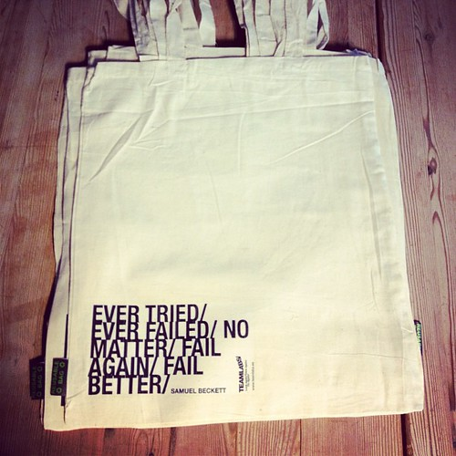 """Ever tried / Ever failed / No matter / Fail again / Fail better"" Samuel Beckett, inspiración de @teamlabs"