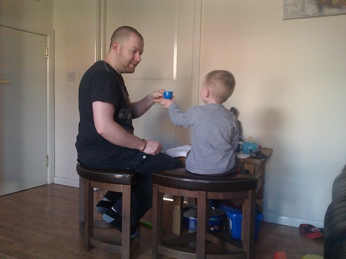 Daddy and Arran having a tea party by xxx zos xxx & bump