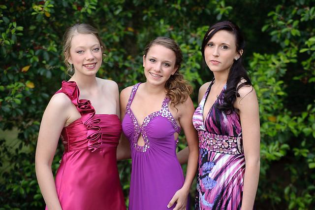 JROTC Military ball girls