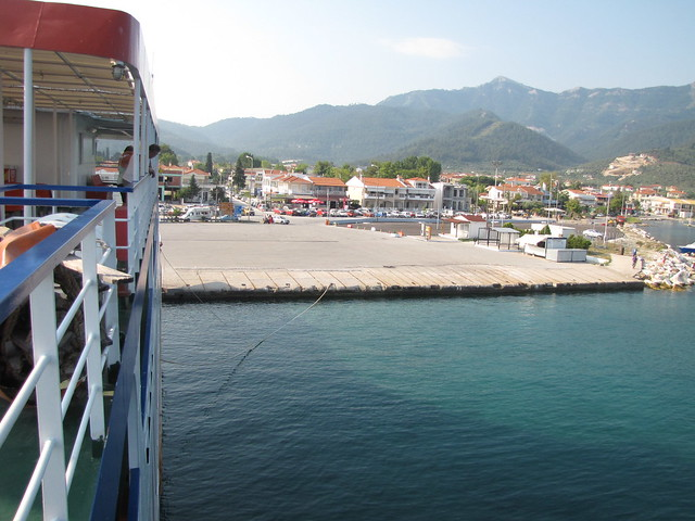 Thassos Port from ferriboat