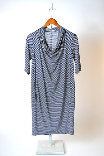 Stripe Poppy Cowl Dress