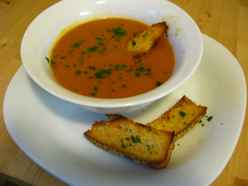Potato and Roasted Tomato Soup!
