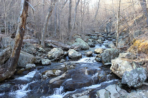 Shenandoah National Park - Whiteoak Canyon Trail - Creek Above Upper Falls From Bridge