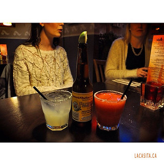 Good friends, margaritas and Mexican beer in Vancouver BC