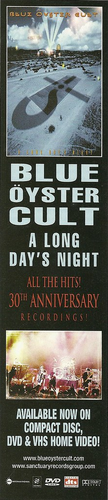 "Blue Oyster Cult ""A Long Day's Night"" (VHS/DVD) (Released: 09/24/02)"