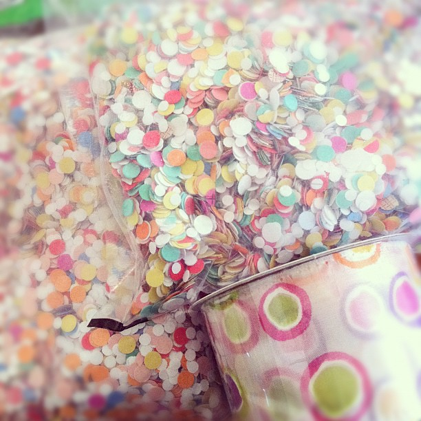 Little girls like ribbon and confetti, right? ;) I'm entering unchartered territory.