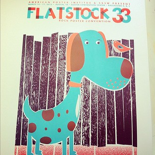And the @Flatstock 33 @sxsw poster too, all done! #processpics #screenprinting