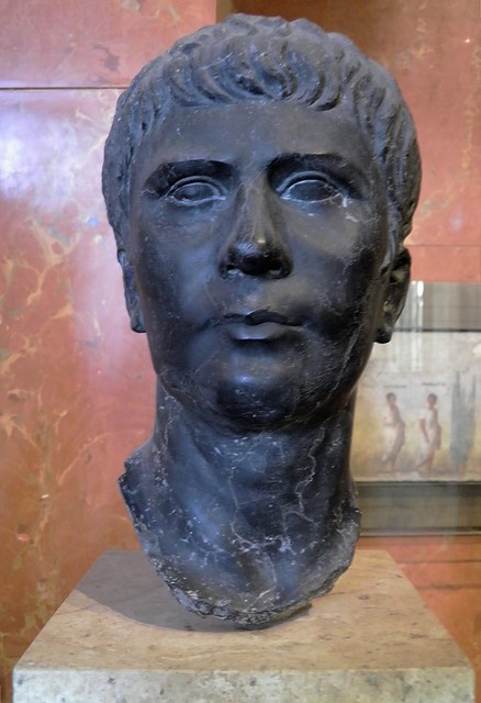 Agrippa Postumus (12 BC–AD 14), portrait modelled on the archetype made in AD 4 after the adoption of Agrippa Postumus by the emperor Tiberius (AD 14–37),  from Alexandria?, Louvre Museum