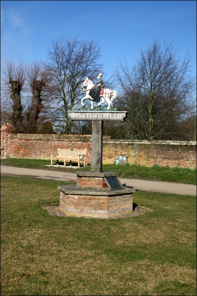 Haslingfield village sign