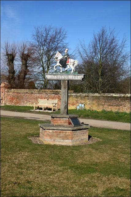 Haslingfield village sign