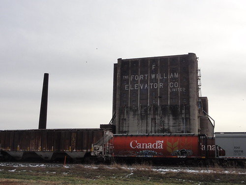 Grain Elevator and Trains - Thunder Bay