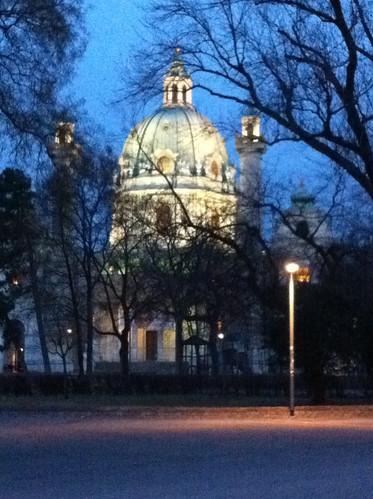 Karlskirche Vienna Night - 2