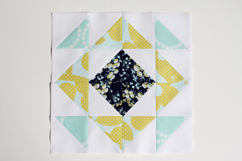 Half-Square Triangle Block of the Month March Quilt Block Tutorial - In Color Order