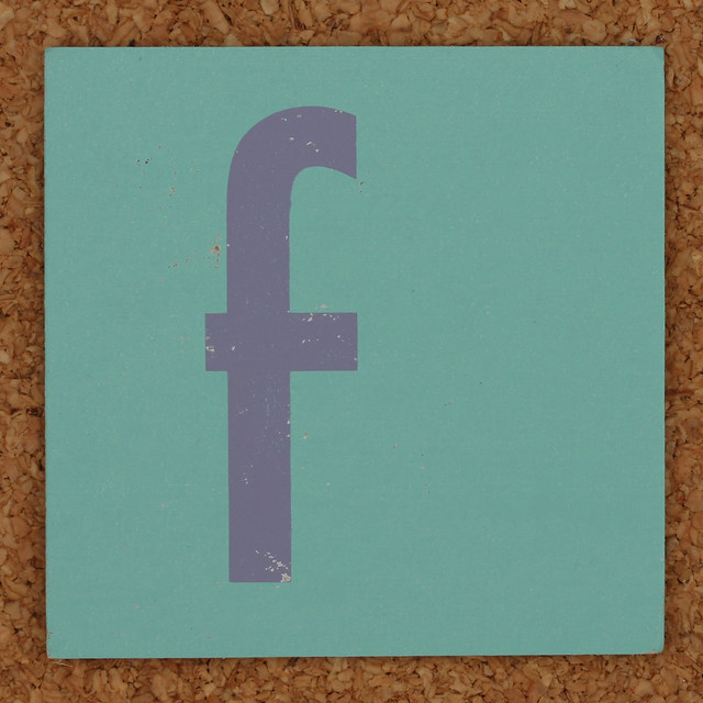 Flickr photo sharing for 24 cardboard letters