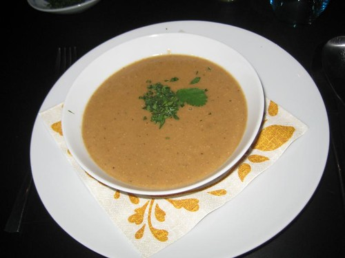 Roasted eggplant & tahini soup