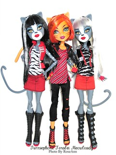 Monster High Purrsephone, Toralei, Meowlody