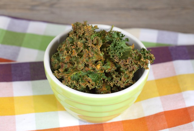 Spicy-Cheezy Kale Chips