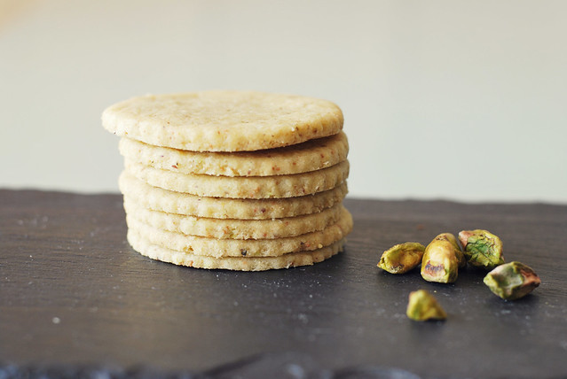 pistachio shortbread with cardamom