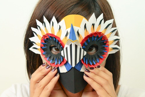 Paper bird mask by Diana Beltran Herrera