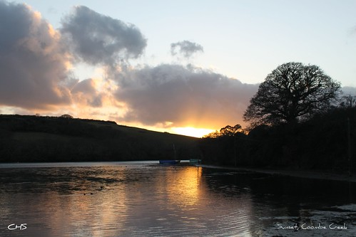 Sunset, Coombe Creek, River Fal by Stocker Images
