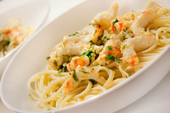 Food Network Friday -- Vegan Shrimp Scampi with Linguine