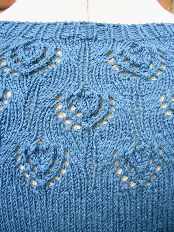 peacock pattern detail