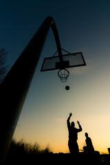 [フリー画像素材] スポーツ, 球技, バスケットボール, シルエット ID:201203141800