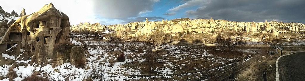 Cappadocia 洞穴飯店外的景色