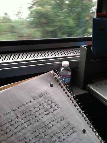 Writing on the train