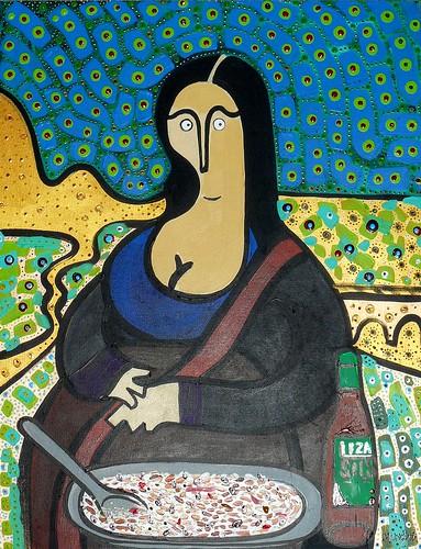 Mona Lizano by Parodias de Pinturas Famosas
