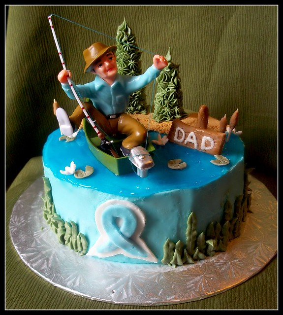 Gone fishing cake flickr photo sharing for Gone fishing cake